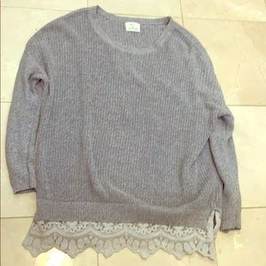 Urban Outfitters Grey Lace Sweater
